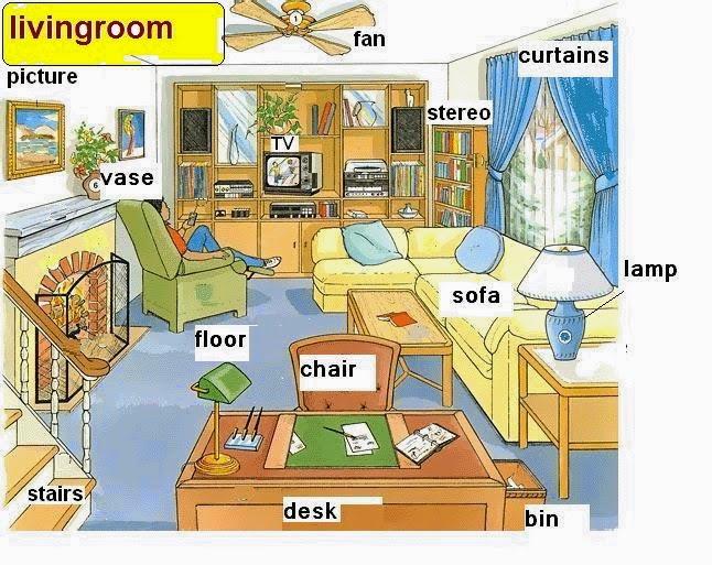 البيت والمفروشات تعليم الانجليزية بسهولة Read English 1